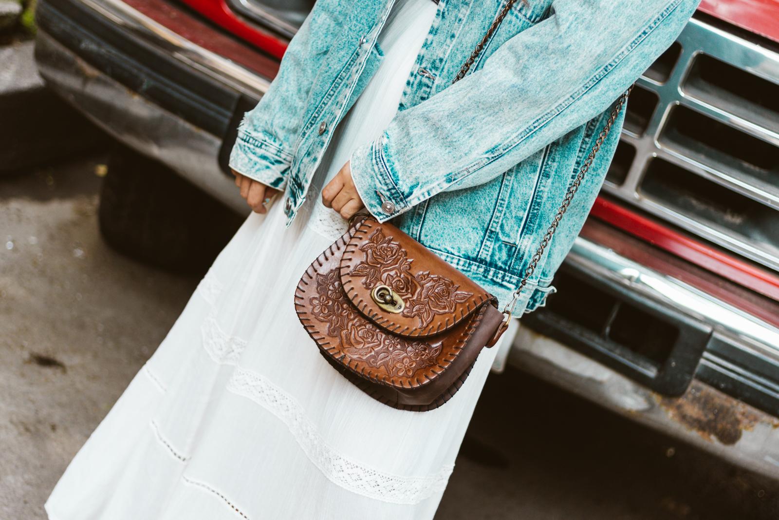 bolsa artesanal hecha en México